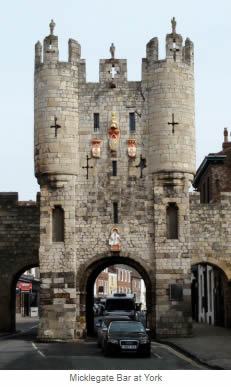 Micklegate Bar at York