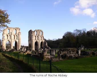 The ruins of Roche Abbey
